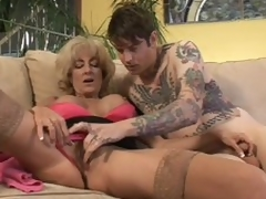Mature Lexi Carrington receives finger drilled by inked up boy