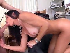 Seductive MILF India Summer munches on a massive boner in advance of receiving it down her trickling wet twat