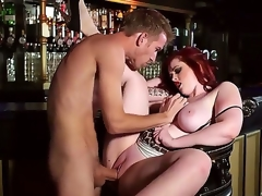 Breasty sexy milf Jaye Rose enhjoys having younh chap Danny D fucking her brains out