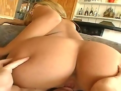 Blonde Lorena Sanchez feels the best feeling ever with Trent Soluris inflexible dong in throat