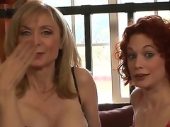 Dressed in super-sexy revealing undies, MILFs Justine Joly and Nina Hartley are here to let u scrutinize their stunning bodies and listen to their wicked sex stories!