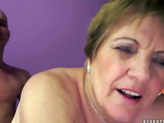 Piros is s naughty granny that acquires her curly wet fur pie screwed unfathomable and hard by her sex obsessed young lover. This guy sticks his dick in her many times used aged twat and this babe likes it so fucking much!