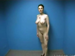 Hot and curvy amateur momma undresses in front of the camera and shows her exposed body in order to make dudes lusty and gives head on her amateur porn clip