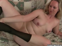 Mom's recent hose gets her all hot and horny