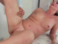 Lusty sex with curvy mature blond hottie
