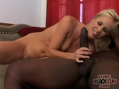 Milf rides large dark cock with passion