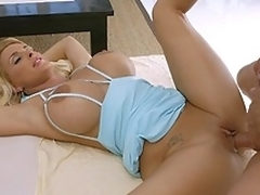 Breasty bitch Holly Halston gets her ass & pussy drilled