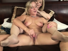 Nina with her lesbo paramour as they take turns licking and fingering