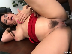 Dean Raylene sucks on his joint and then gets it snatch injected