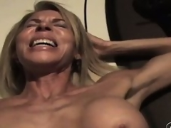 The wild of age lady sighs with pleasure as A that guy drives his cock deep less say no to cunt