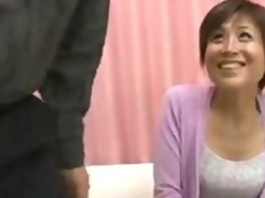 Asian Wife tries to immerse b reach her Husbands jock