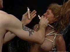 Submissive Golden-haired MILF Receives Tortured in a Sex Dungeon